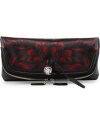Alexander McQueen Tulip-print Fold-over Clutch Bag - Lyst