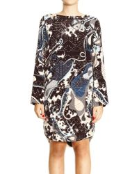 Emilio Pucci Dress Tunic Long Sleeve Print Appaloosa Details Studs - Lyst