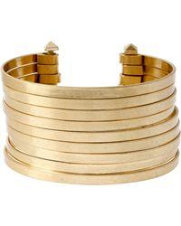 Kenneth Cole Multi Row Wire Cuff Bracelet - Metallic