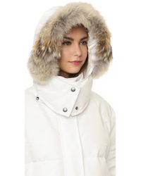 Tess Giberson - Down Cocoon Parka With Fur Trim - Lyst