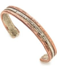 Cause And Effect Sterling  Copper Cuff - Lyst