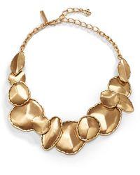 Oscar de la Renta Disc Accented Collar Necklace - Lyst