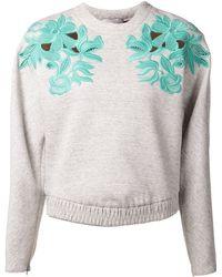 3.1 Phillip Lim Guipure Lace Sweatshirt - Lyst