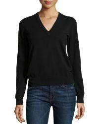 Michael Kors Cashmere Long-Sleeve V-Neck Sweater - Lyst