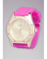 Bebe - Colored Stone Wrap Watch - Lyst