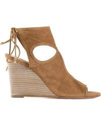 Aquazzura 'Sexy Thing' Wedge Sandals - Lyst