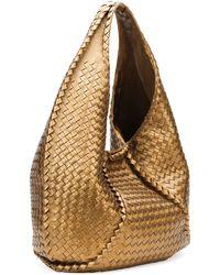 Bottega Veneta Cervo Large Metallic Hobo Bag Bronze - Lyst