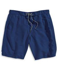 Hudson North - Lace Up Swim Shorts - Lyst