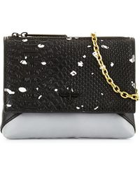 Pour La Victoire Noemi Snake-Embossed Leather Mini Crossbody Bag - Lyst