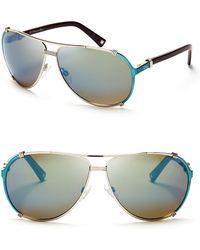 Dior Chicago Mirrored Aviator Sunglasses - Lyst