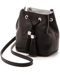 Tory Burch Thea Mini Bucket Cross Body Bag - Black - Lyst