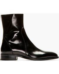 DSquared² - Black Leather Bond Street Ankle Boots - Lyst