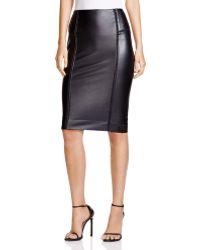 Lyssé Faux Leather Pencil Skirt - Black