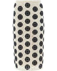 Burberry Prorsum - Curlicuelace Pencil Skirt - Lyst