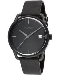 Nixon Womens Mellor Automatic Black Genuine Leather and Dial Black Ip Steel Case - Lyst