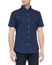 Ralph Lauren Black Label Dot Print Short Sleeve Sport Shirt - Lyst