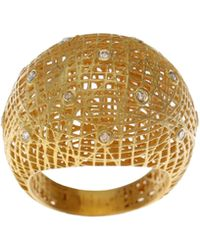 Yossi Harari - Roxanne Wire-lace 18k Gold Dome Ring - Lyst
