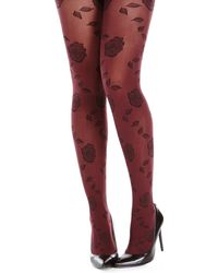Isaac Mizrahi Two-pair Rose Tights - Lyst