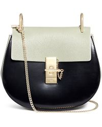 cheap replica chloe handbags - Chlo�� Elsie Small Leather Chain Shoulder Bag in Black | Lyst