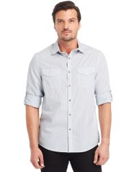 Kenneth Cole Modern Fit Mini Check Sport Shirt - Lyst