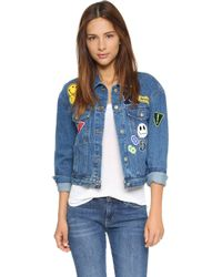 Re:named - Patch Denim Jacket - Blue Wash - Lyst