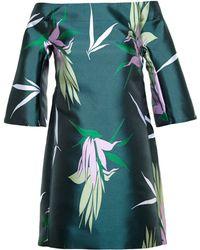 Marni Printed Off Shoulder Tunic Dress - Lyst