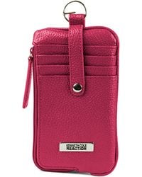 Kenneth Cole Reaction - Must Haves Leather Snap Tab Card Case - Lyst