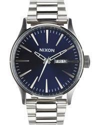 Nixon Sunray Sentry Ss Blue Watch - Lyst