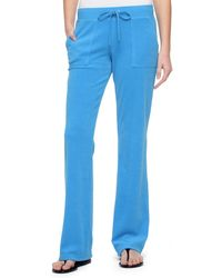 Juicy Couture | Bling Bootcut Terry Pant | Lyst