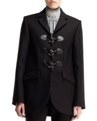 Balenciaga Gabardine Togglefront Blazer - Lyst