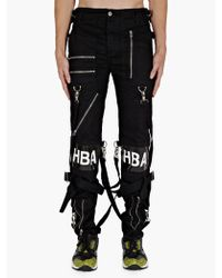 Hood By Air Mens Black Zip Detail Vinyl Logo Jeans - Lyst
