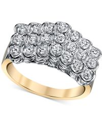 Sirena - Energy Diamond Pyramid Ring (1 Ct. T.w.) In 14k Gold And White Gold - Lyst