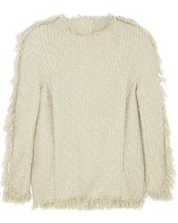 Lanvin Fringed Woolblend Tweed Top - Lyst