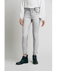 Free People Womens High Rise Roller Skinny - Lyst