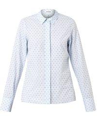 Jil Sander Silvia Swissdot Cotton Shirt - Lyst