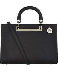 DKNY Large Saffiano Shopper - Lyst