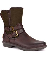 UGG Simmens Waterproof Leather Ankle Boots - Brown