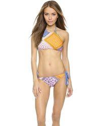 MINKPINK Sunset Patchwork Bikini Top - Multi - Lyst