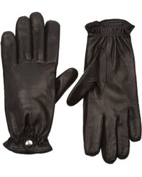 Barneys New York Cashmere-lined Leather Gloves - Lyst