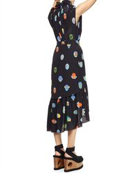 Stella McCartney Superhero-Print Tiered Asymmetric Skirt - Black