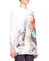 Just Cavalli Sheer Exaggerated Cuff Top - Lyst