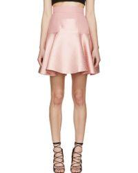 Alexander McQueen Pink Flared Skirt - Lyst