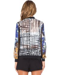 Clover Canyon - Shattered Garden Crepe Jacket - Lyst