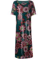 House of Holland Flower Print Sequins Dress green - Lyst