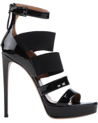 Alaïa High-Heel Multi-Strap Platform Sandals - Lyst