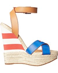 DSquared² Striped Espadrille Wedge - Lyst