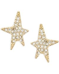 R.j. Graziano - Pave Star Stud Earrings - Lyst