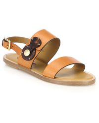 Pink Pony - Reilly Leather Flat Slingback Sandals - Lyst