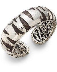 John Hardy Palu Macan Sterling Silver Kick Cuff Bracelet - Lyst