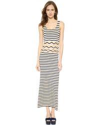 Jean Paul Gaultier Striped Cutout Dress - Tenebra - Lyst